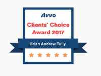 Brian Tully Avvo Client's Choice Award 2017